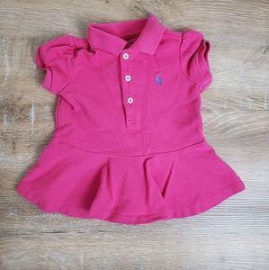 Pink Ralph Lauren Peplum Polo Shirt